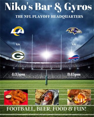 🏈Catch all the games here @ Niko's