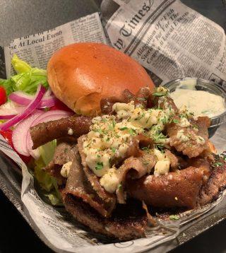Niko Burger •angus patty, lamb & beef, feta cheese