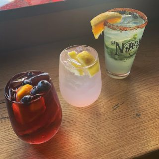 Enjoy one of specialty cocktails today! •Red Sangria •Spiked Pink Lemonade •Niko's Cilantro Jalapeño Margarita
