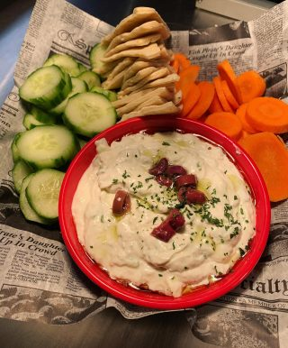 A whole bowl of Tzatziki! Heaven does exist 🤤
