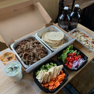 Order a Niko's Dinner Box + a growler filled with any of our 25 taps 🍻