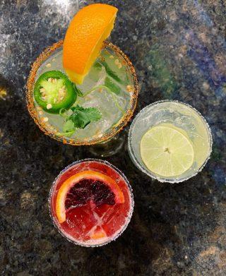 Margaritas are good any day! •Cilantro Jalapeño •Blood Orange •Classic