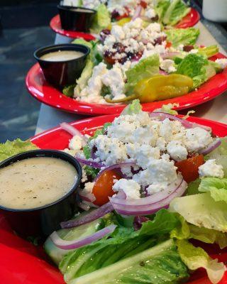 Mmmmmmm who wants a crisp, fresh Greek side salad?