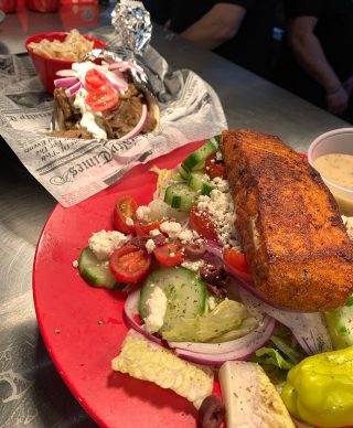 Gyro or a salad? Both are delicious!