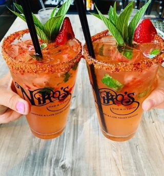 Try our Strawberry Mint Margaritas!