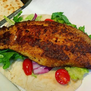 Switch it up and try our Blackened Grouper Gyro •blackened grouper, lettuce, tomato, onion with a side of Tzatziki