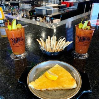 Treat your mom extra special today with a stop at Niko's for our Spicy Bloody Mary's and Saganaki!
